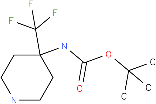 (4-Trifluoromethyl-piperidin-4-yl)-carbamic acid tert-butyl ester