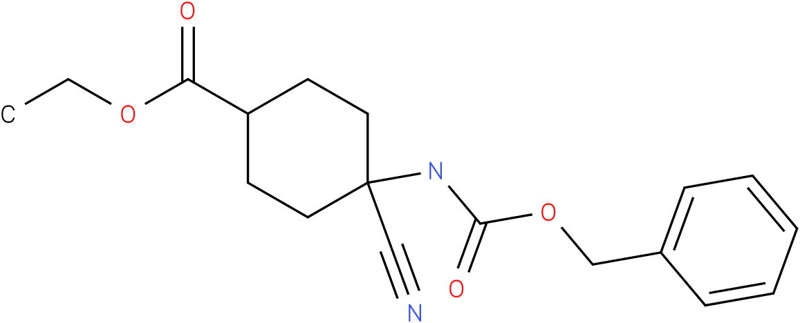 ethyl 4-(benzyloxycarbonylamino)-4-cyanocyclohexanecarboxylate