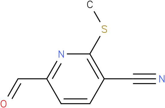 3-Cyano-2-(methylthio)pyridine-6-carboxaldehyde