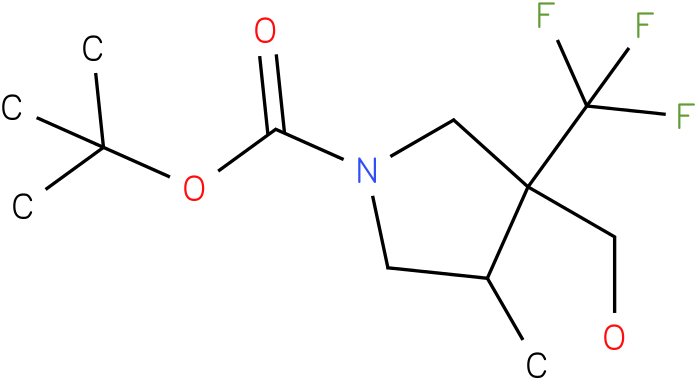3-Hydroxymethyl-4-methyl-3-trifluoromethyl-pyrrolidine-1-carboxylic acid tert-butyl ester