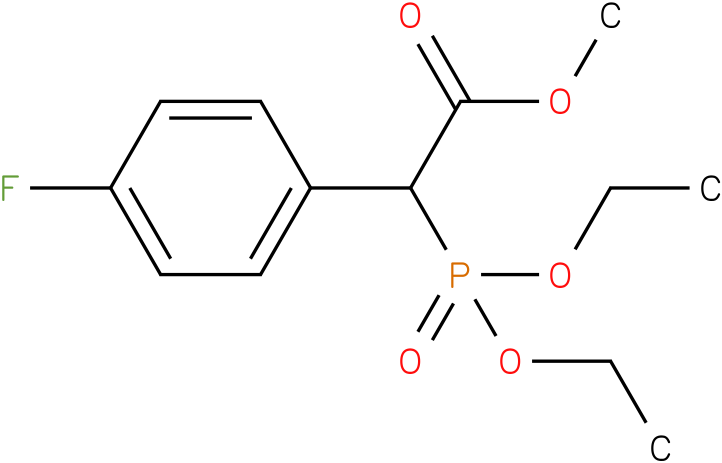 (Diethoxy-phosphoryl)-(4-fluoro-phenyl)-acetic acid methyl ester