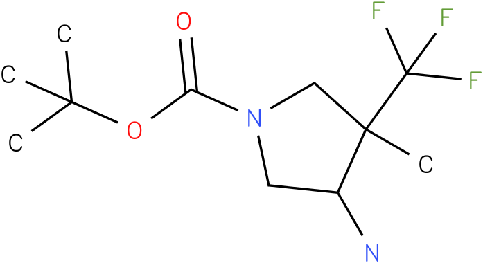 4-Amino-3-methyl-3-trifluoromethyl-pyrrolidine-1-carboxylic acid tert-butyl ester