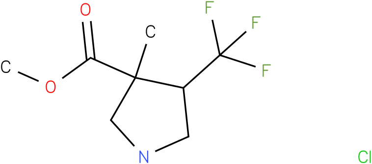 3-Methyl-4-trifluoromethyl-pyrrolidine-3-carboxylic acid methyl ester hydrochloride