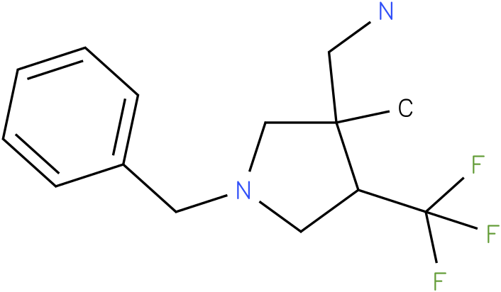 C-(1-Benzyl-3-methyl-4-trifluoromethyl-pyrrolidin-3-yl)-methylamine