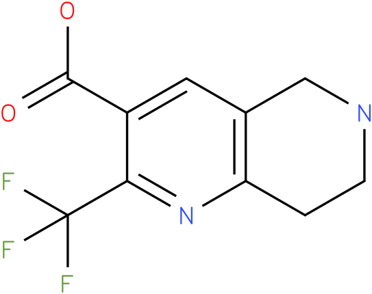 2-Trifluoromethyl-5,6,7,8-tetrahydro-[1,6]naphthyridine-3-carboxylic acid
