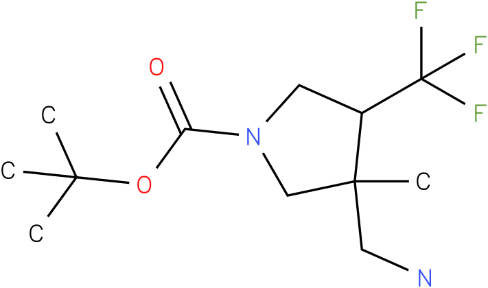 3-Aminomethyl-3-methyl-4-trifluoromethyl-pyrrolidine-1-carboxylic acid tert-butyl ester