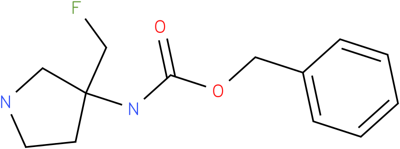 (3-Fluoromethyl-pyrrolidin-3-yl)-carbamic acid benzyl ester