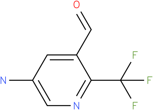 5-Amino-2-trifluoromethyl-pyridine-3-carbaldehyde