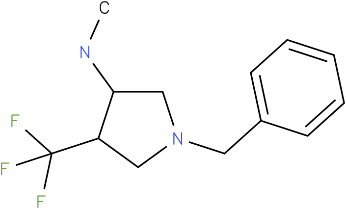 C-(1-Benzyl-4-trifluoromethyl-pyrrolidin-3-yl)-methylamine