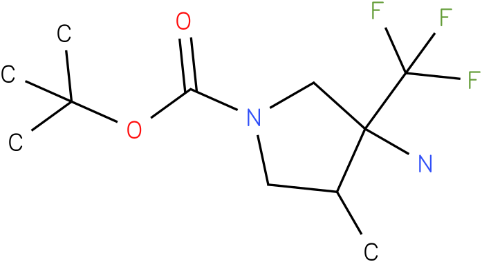 3-Amino-4-methyl-3-trifluoromethyl-pyrrolidine-1-carboxylic acid tert-butyl ester