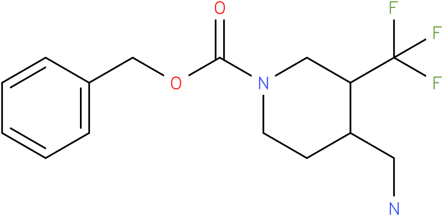 4-Aminomethyl-3-trifluoromethyl-piperidine-1-carboxylic acid benzyl ester
