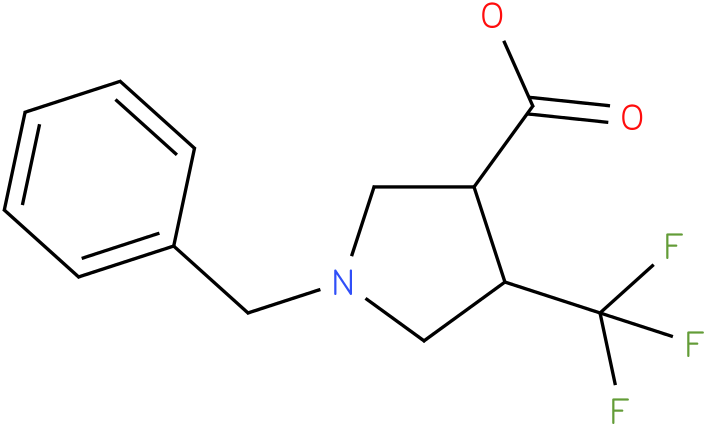 1-Benzyl-4-trifluoromethyl-pyrrolidine-3-carboxylic acid