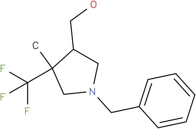 (1-Benzyl-4-methyl-4-trifluoromethyl-pyrrolidin-3-yl)-methanol