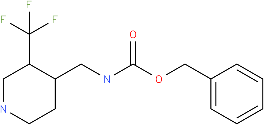 (3-Trifluoromethyl-piperidin-4-ylmethyl)-carbamic acid benzyl ester