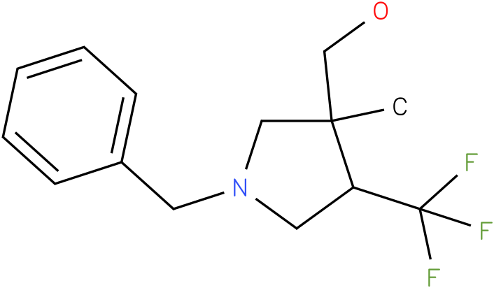 (1-Benzyl-3-methyl-4-trifluoromethyl-pyrrolidin-3-yl)-methanol