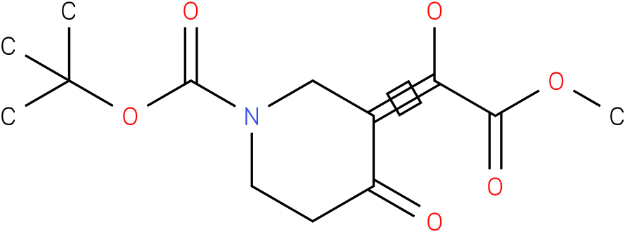 tert-butyl 3-(1-hydroxy-2-methoxy-2-oxoethylidene)-4-oxopiperidine-1-carboxylate