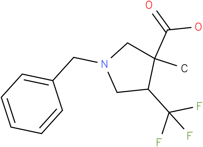 1-Benzyl-3-methyl-4-trifluoromethyl-pyrrolidine-3-carboxylic acid