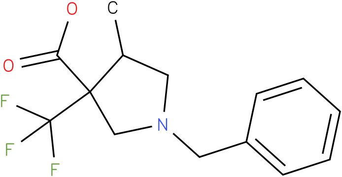 1-Benzyl-4-methyl-3-trifluoromethyl-pyrrolidine-3-carboxylic acid