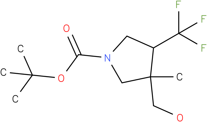 3-Hydroxymethyl-3-methyl-4-trifluoromethyl-pyrrolidine-1-carboxylic acid tert-butyl ester