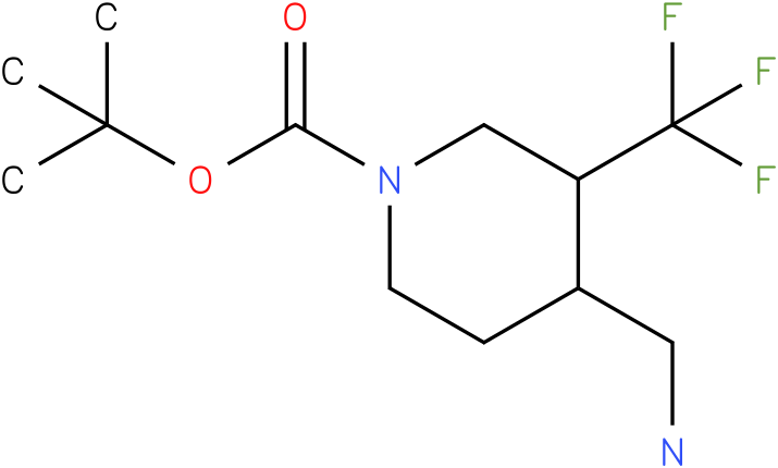 4-Aminomethyl-3-trifluoromethyl-piperidine-1-carboxylic acid tert-butyl ester