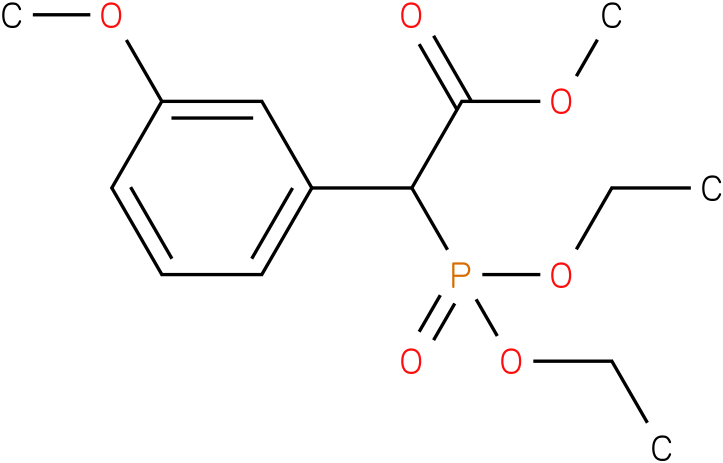 (Diethoxy-phosphoryl)-(3-methoxy-phenyl)-acetic acid methyl ester
