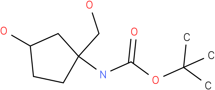 (3-Hydroxy-1-hydroxymethyl-cyclopentyl)-carbamic acid tert-butyl ester