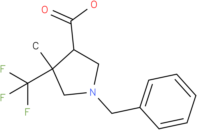 1-Benzyl-4-methyl-4-trifluoromethyl-pyrrolidine-3-carboxylic acid