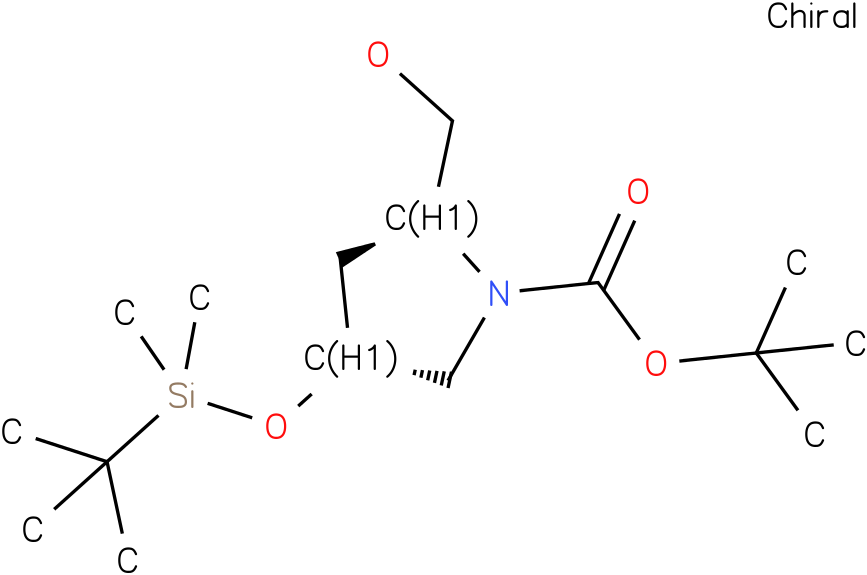 (2S,4R)-tert-butyl 4-(tert-butyldimethylsilyloxy)-2-(hydroxymethyl)pyrrolidine-1-carboxylate