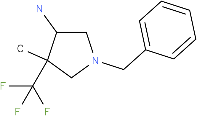 1-Benzyl-4-methyl-4-trifluoromethyl-pyrrolidin-3-ylamine