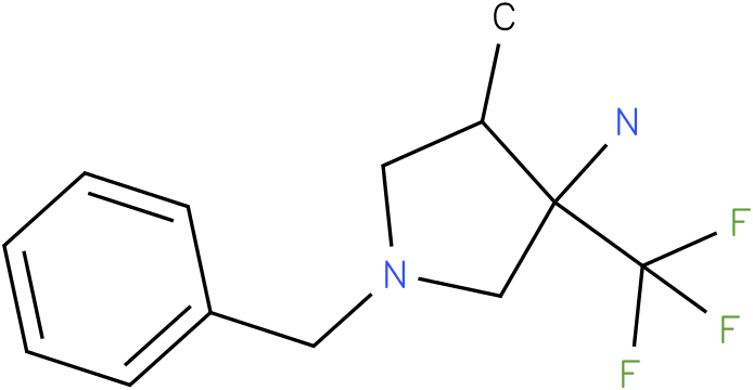 1-Benzyl-4-methyl-3-trifluoromethyl-pyrrolidin-3-ylamine
