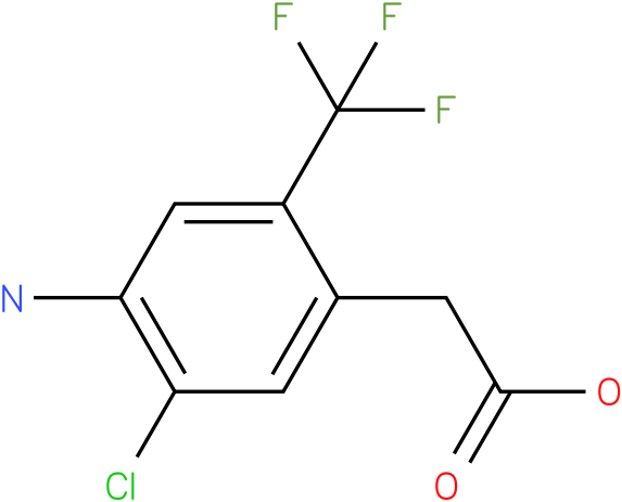 2-(4-amino-5-chloro-2-(trifluoromethyl)phenyl)acetic acid