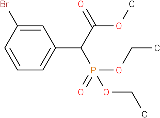 (Diethoxy-phosphoryl)-(3-bromo-phenyl)-acetic acid methyl ester