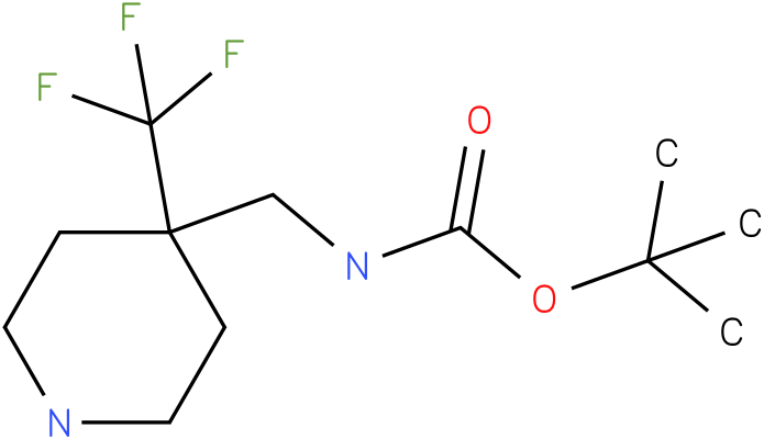 (4-Trifluoromethyl-piperidin-4-ylmethyl)-carbamic acid tert-butyl ester