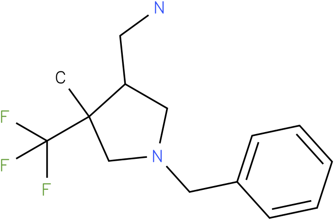 C-(1-Benzyl-4-methyl-4-trifluoromethyl-pyrrolidin-3-yl)-methylamine