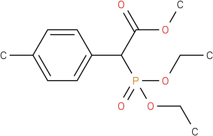 (Diethoxy-phosphoryl)-(4-methyl-phenyl)-acetic acid methyl ester