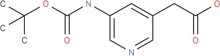 (5-tert-Butoxycarbonylamino-pyridin-3-yl)-acetic acid