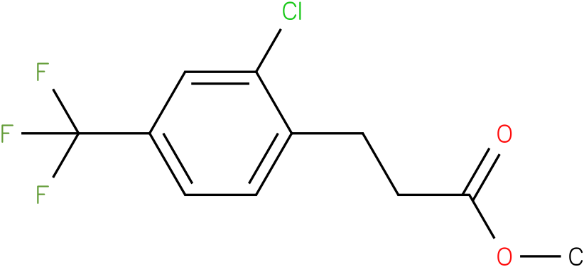 3-(2-Chloro-4-trifluoromethyl-phenyl)-propionic acid methyl ester