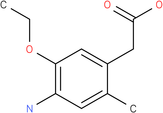 (4-Amino-5-ethoxy-2-methyl-phenyl)-acetic acid