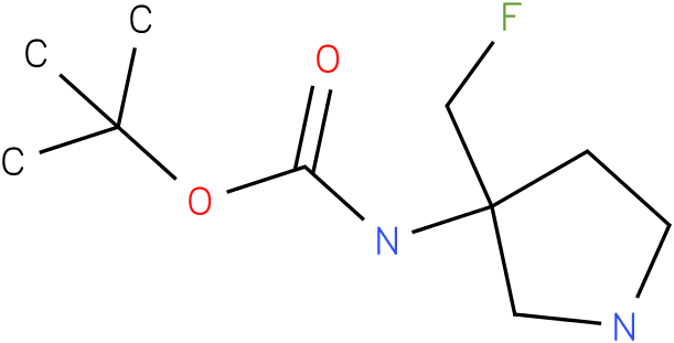 (3-Fluoromethyl-pyrrolidin-3-yl)-carbamic acid tert-butyl ester
