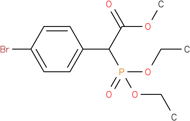 (Diethoxy-phosphoryl)-(4-bromo-phenyl)-acetic acid methyl ester