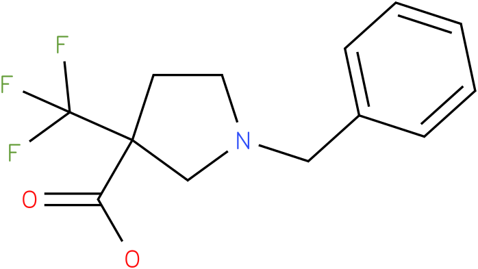 1-Benzyl-3-trifluoromethyl-pyrrolidine-3-carboxylic acid