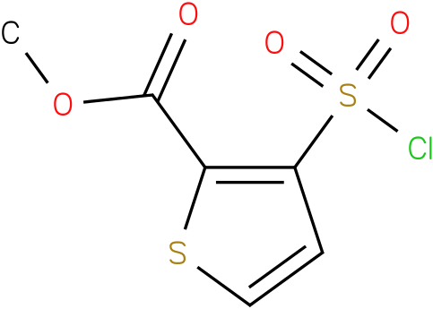 METHYL 3-(CHLOROSULPHONYL)THIOPHENE-2-CARBOXYLATE