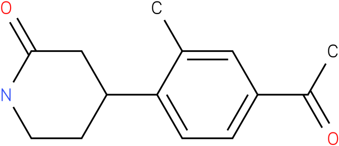 4-(4-acetyl-2-methylphenyl)piperidin-2-one