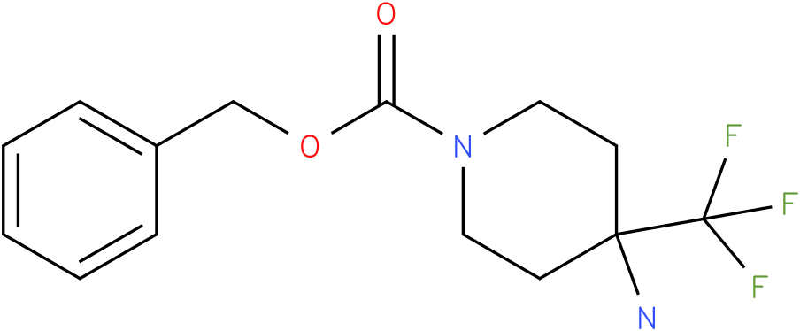 4-Amino-4-trifluoromethyl-piperidine-1-carboxylic acid benzyl ester