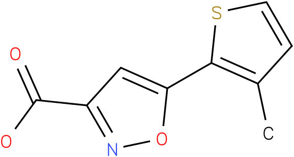 5-(3-methylthiophen-2-yl)isoxazole-3-carboxylic acid