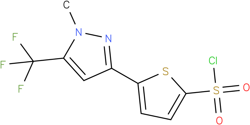 2-[1-Methyl-5-(trifluoromethyl)pyrazol-3-yl]thiophene-5-sulphony