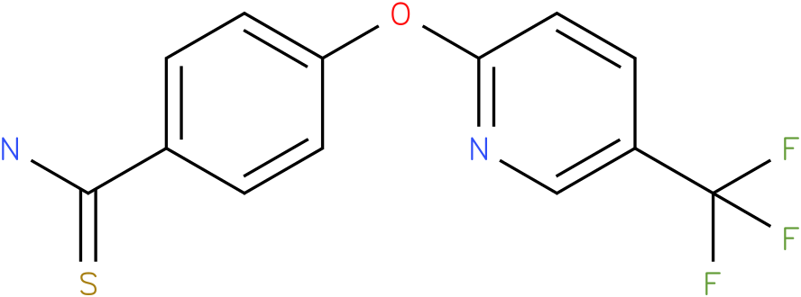 4-[5-(Trifluoromethyl)pyridin-2-yloxy]thiobenzamide