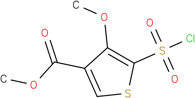 methyl 5-chlorosulfonyl-4-methoxythiophene-3-carboxylate