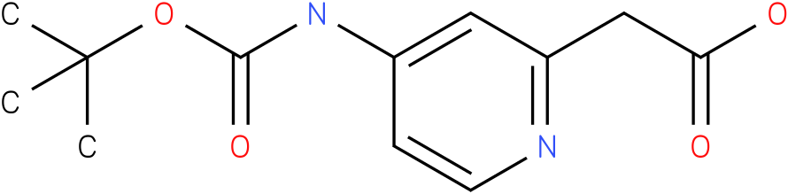 (4-tert-Butoxycarbonylamino-pyridin-2-yl)-acetic acid