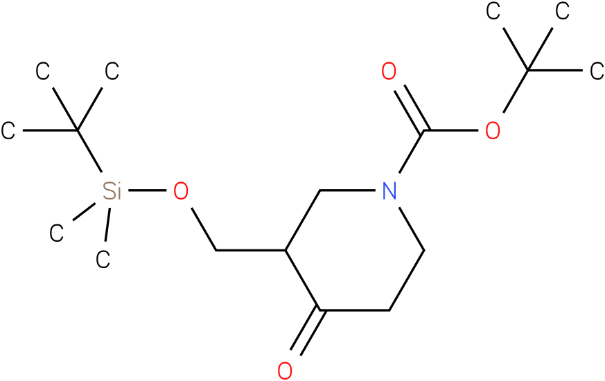 1-Boc-3-[(1,1-dimethylethyl)dimethylsilyloxymethyl]-piperidin-4-one